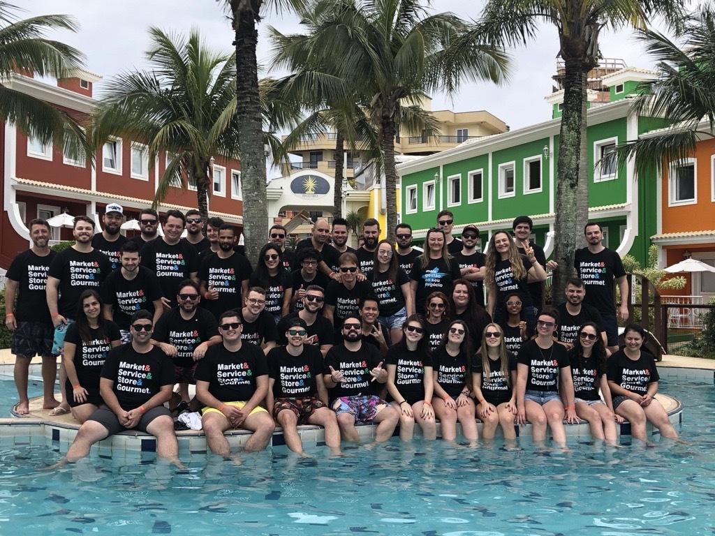 Equipe da Intelidata na última confraternização, em 2019.